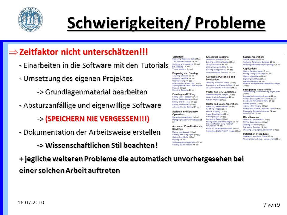 Schwierigkeiten/ Probleme