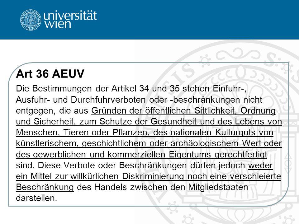 Art 36 AEUV