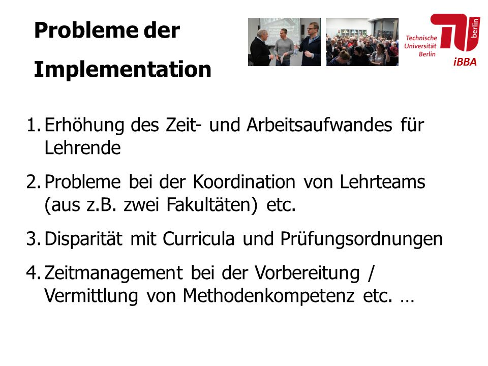 Probleme der Implementation