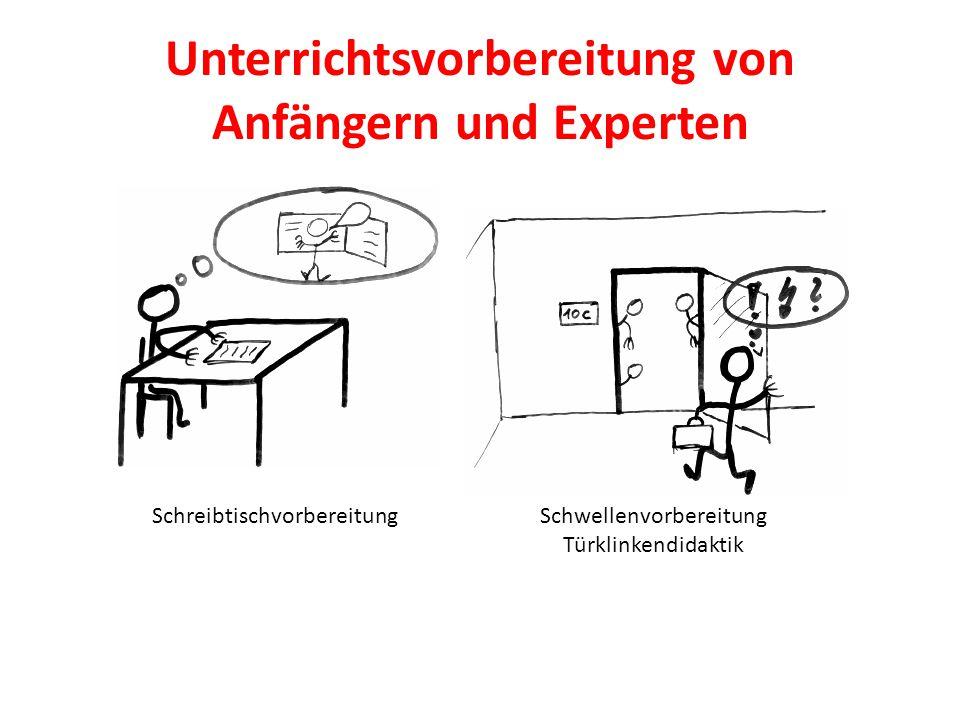 Unterrichtsvorbereitung von Anfängern und Experten