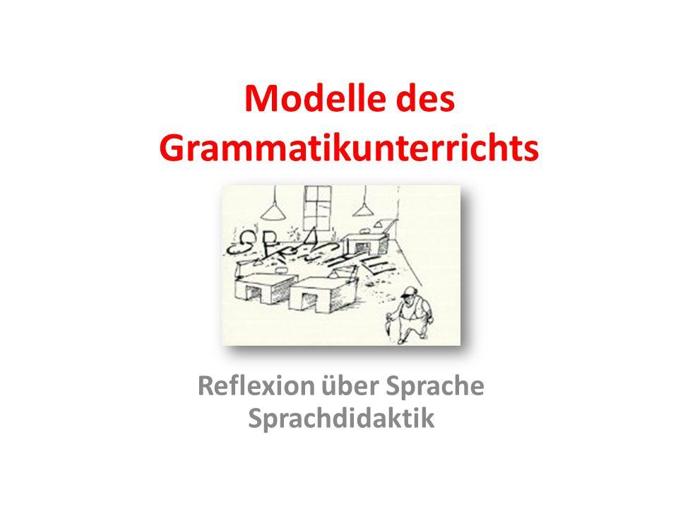Modelle des Grammatikunterrichts