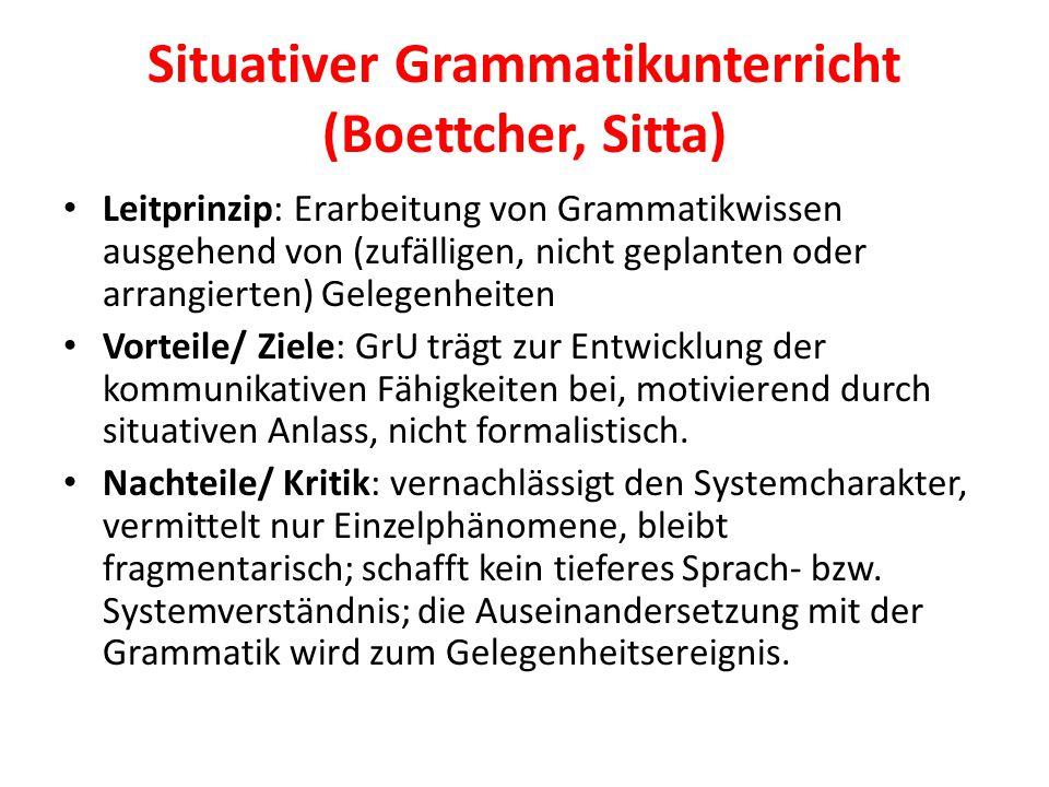 Situativer Grammatikunterricht (Boettcher, Sitta)