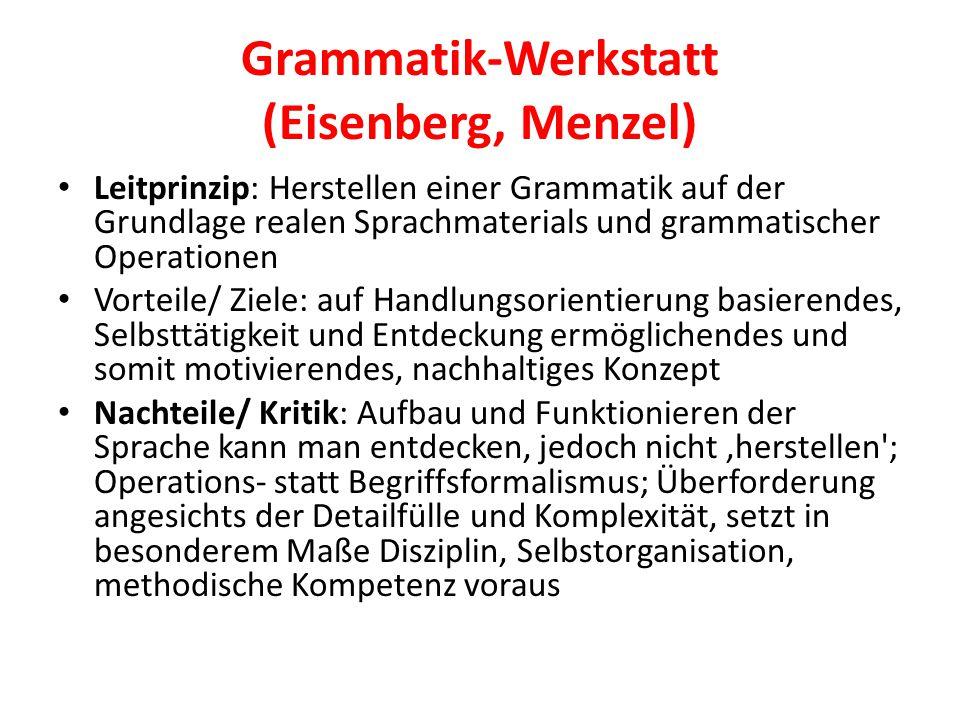 Grammatik-Werkstatt (Eisenberg, Menzel)