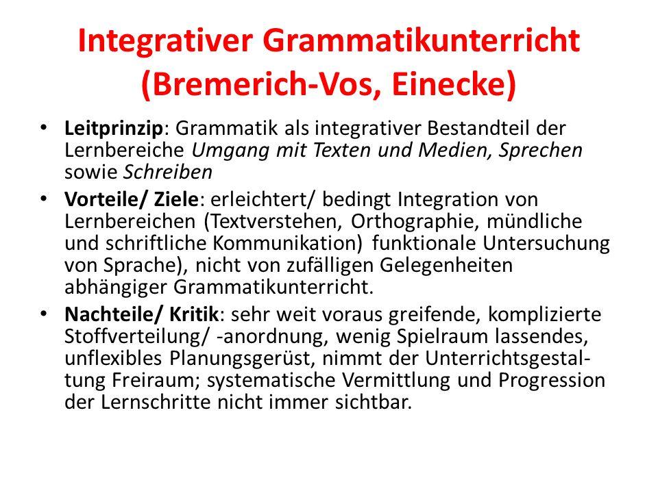 Integrativer Grammatikunterricht (Bremerich-Vos, Einecke)