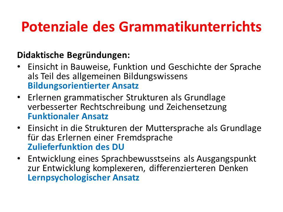 Potenziale des Grammatikunterrichts