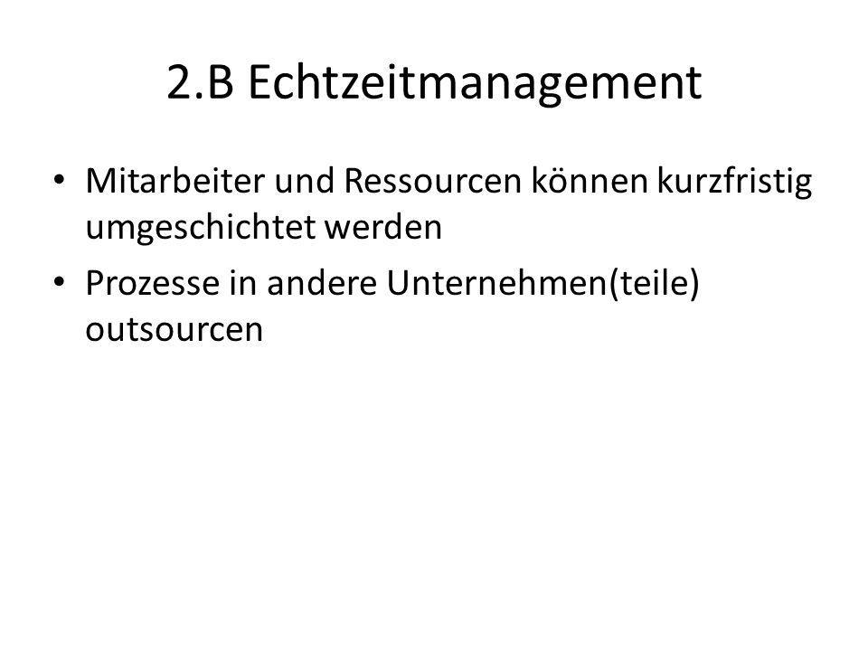 2.B Echtzeitmanagement Mitarbeiter und Ressourcen können kurzfristig umgeschichtet werden.