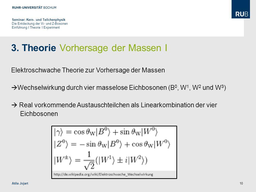 3. Theorie Vorhersage der Massen I
