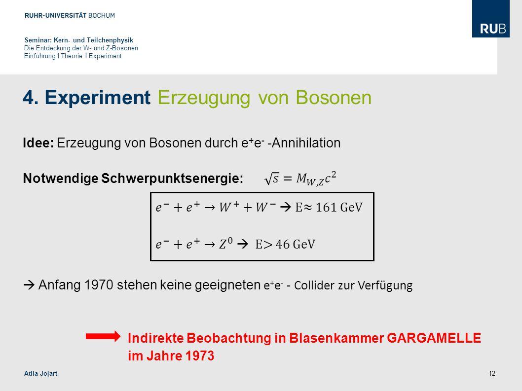 4. Experiment Erzeugung von Bosonen