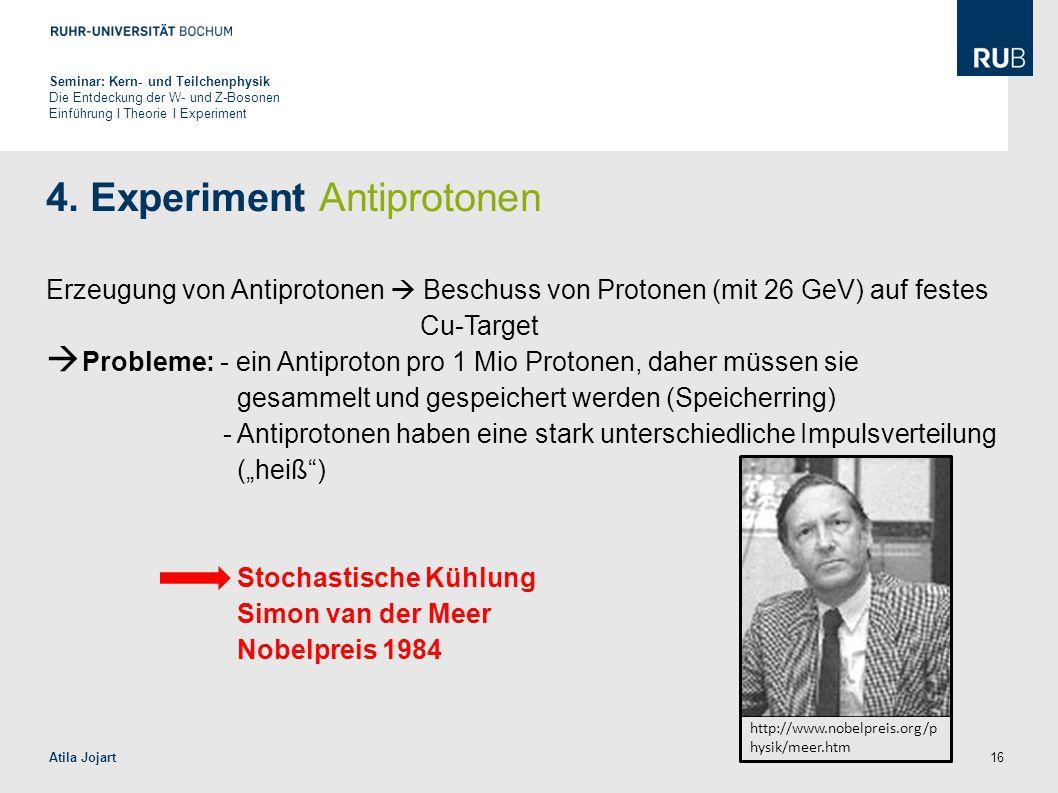 4. Experiment Antiprotonen