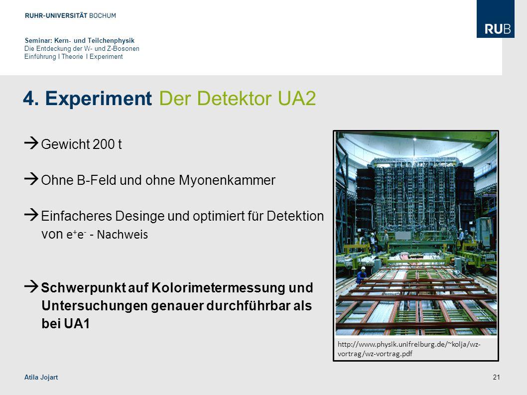 4. Experiment Der Detektor UA2