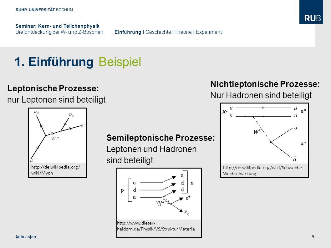 1. Einführung Beispiel Nichtleptonische Prozesse: