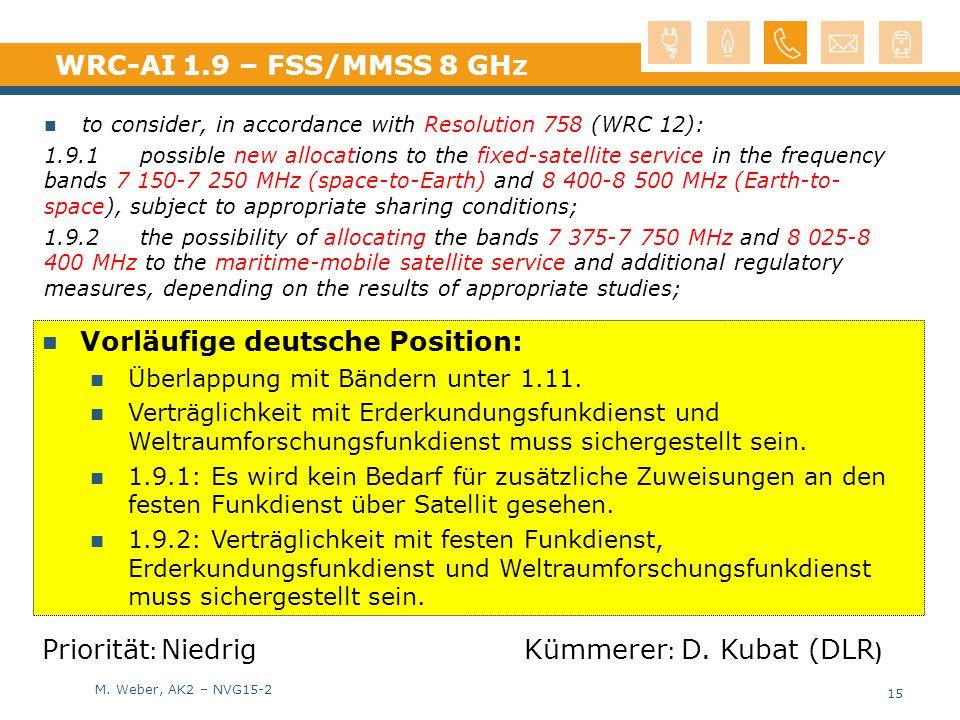 Vorläufige deutsche Position: