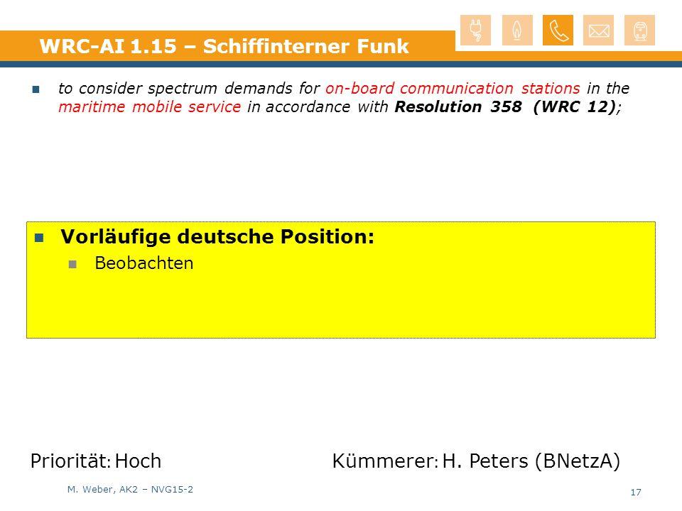 WRC-AI 1.15 – Schiffinterner Funk