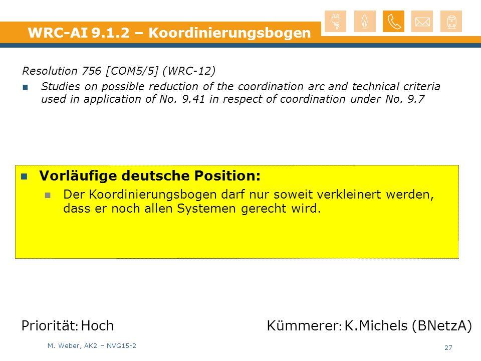 WRC-AI 9.1.2 – Koordinierungsbogen