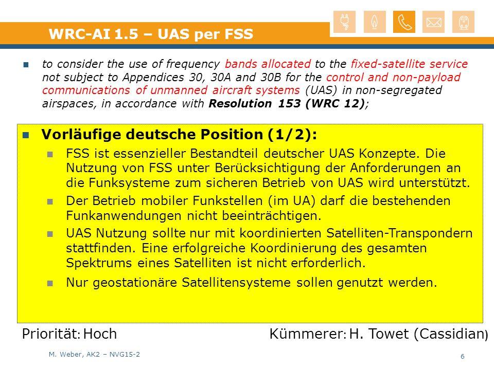 Vorläufige deutsche Position (1/2):