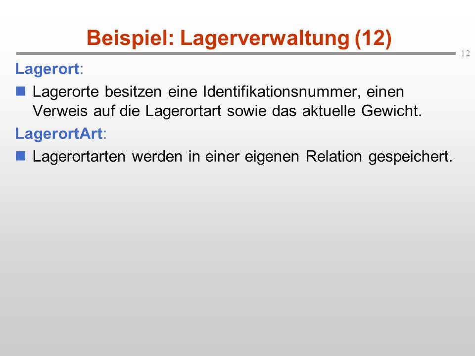 Beispiel: Lagerverwaltung (12)