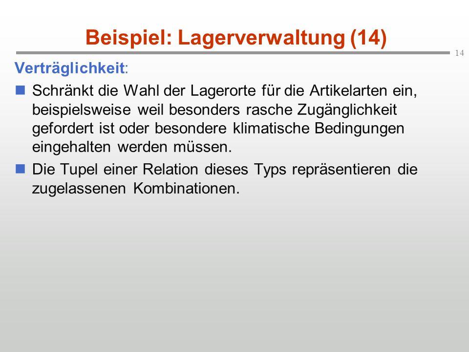 Beispiel: Lagerverwaltung (14)