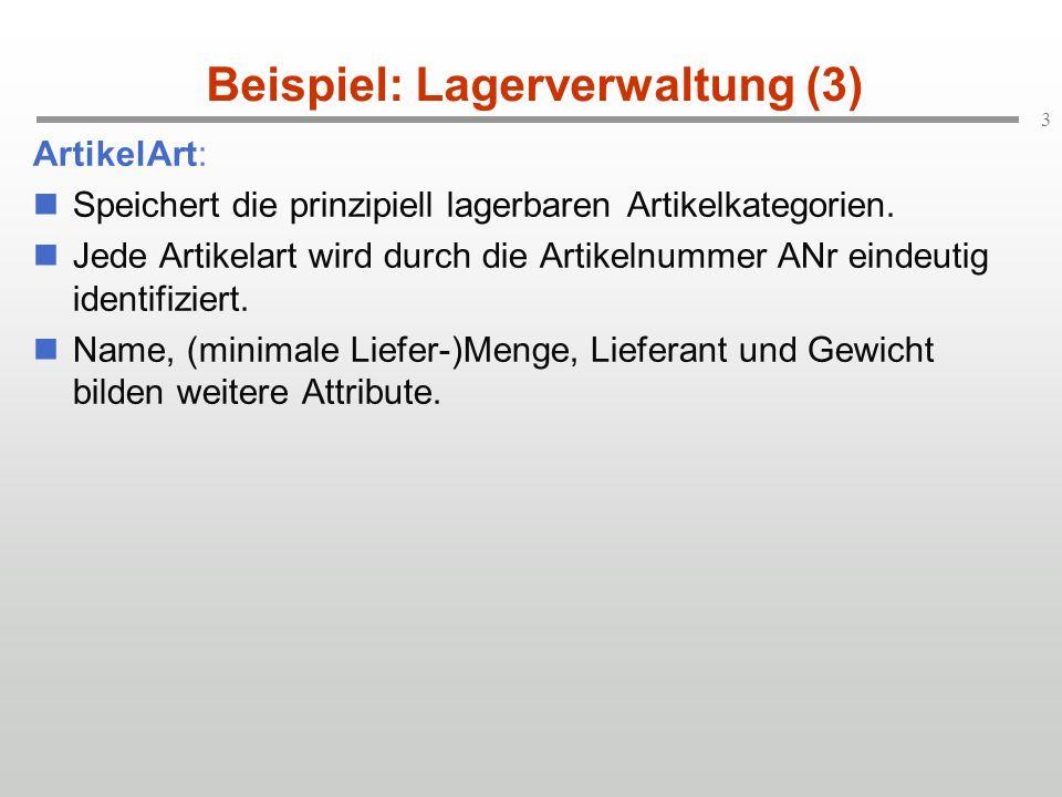 Beispiel: Lagerverwaltung (3)