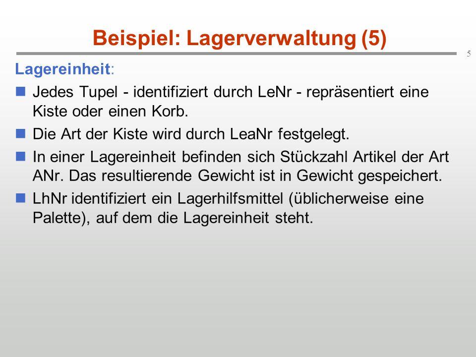 Beispiel: Lagerverwaltung (5)