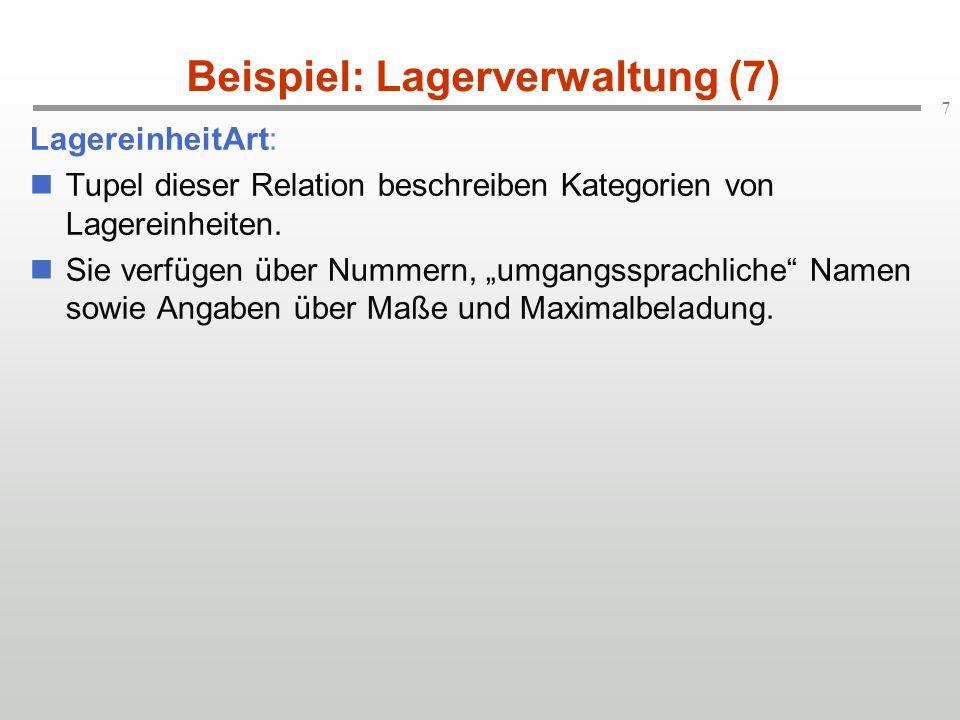 Beispiel: Lagerverwaltung (7)