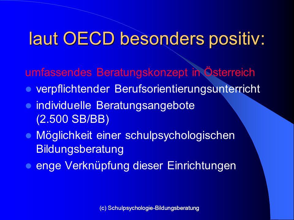 laut OECD besonders positiv: