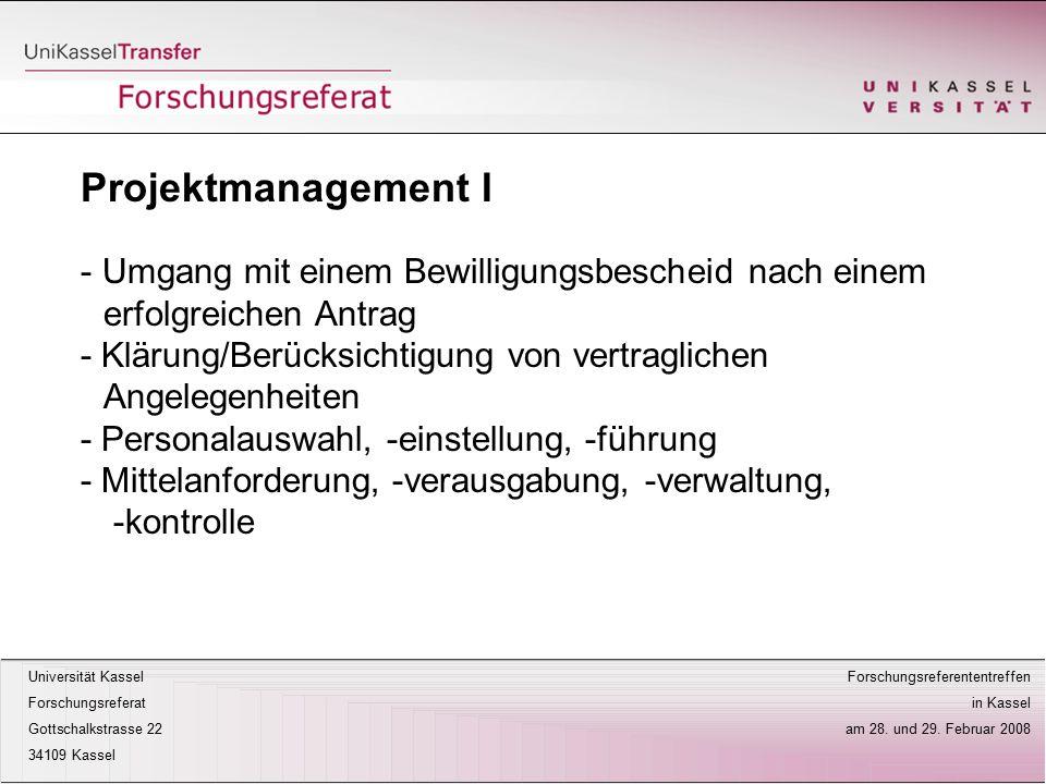 Projektmanagement I