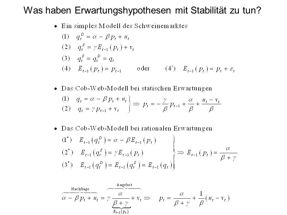 Was haben Erwartungshypothesen mit Stabilität zu tun