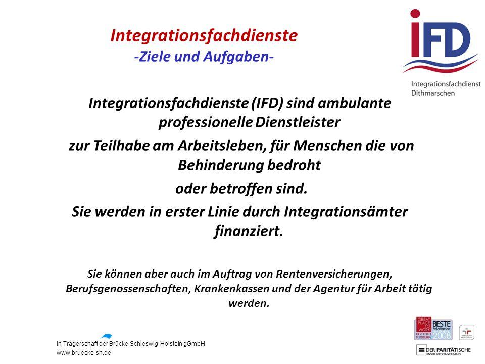 Integrationsfachdienste -Ziele und Aufgaben-