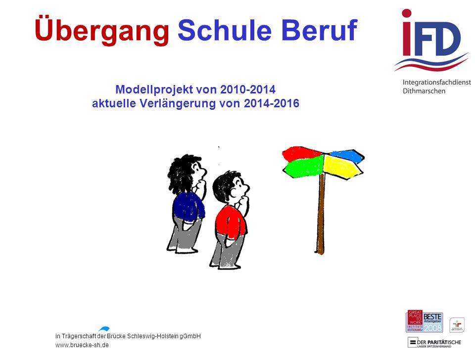 Übergang Schule Beruf Modellprojekt von 2010-2014 aktuelle Verlängerung von 2014-2016