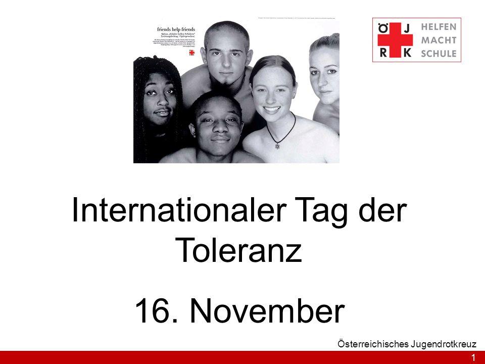 Internationaler Tag der Toleranz