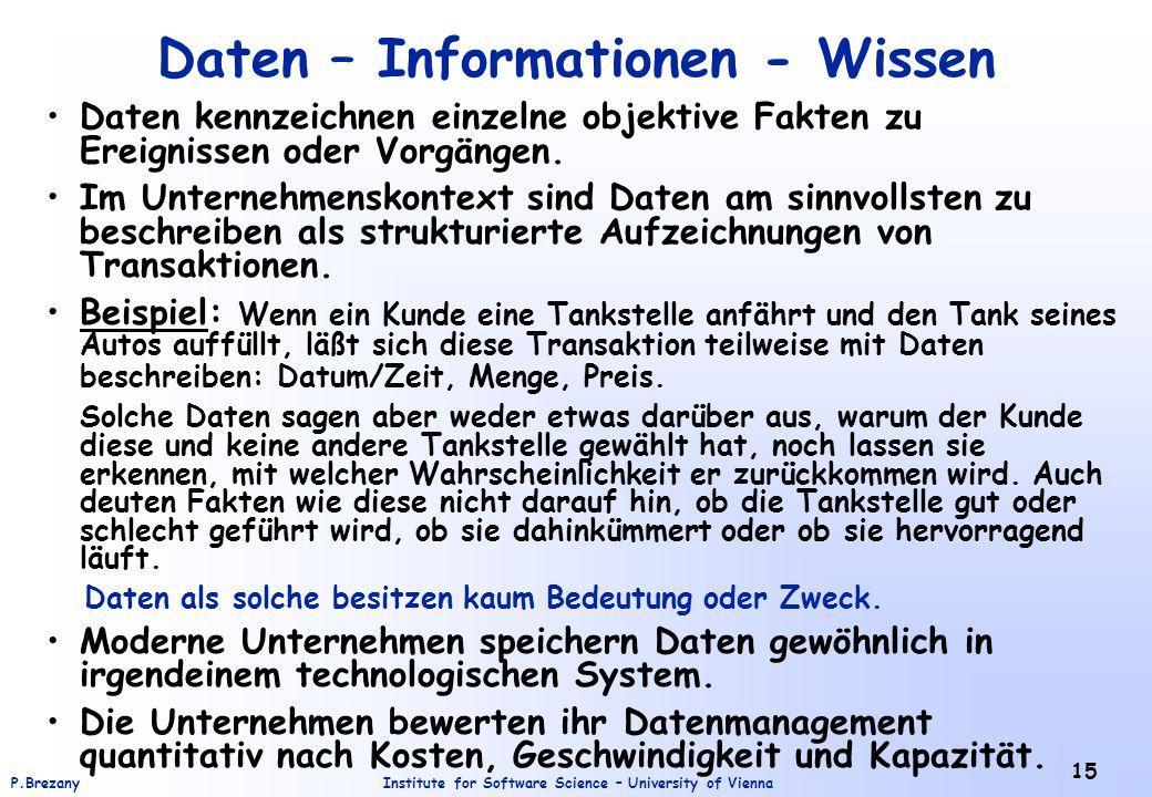 Daten – Informationen - Wissen