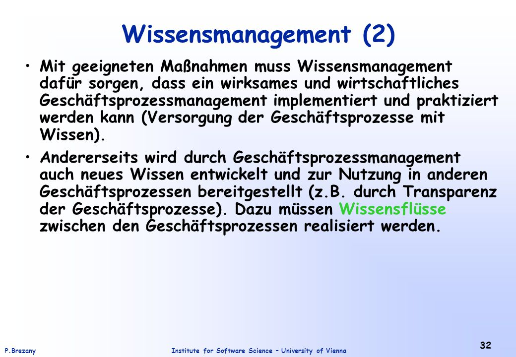 Wissensmanagement (2)