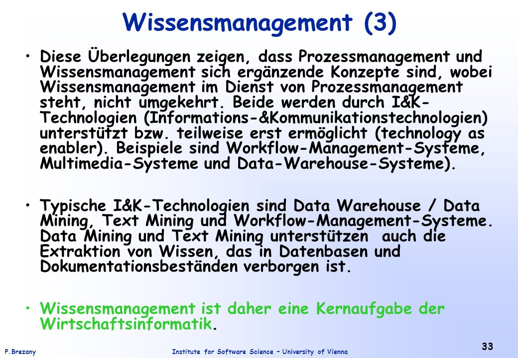 Wissensmanagement (3)