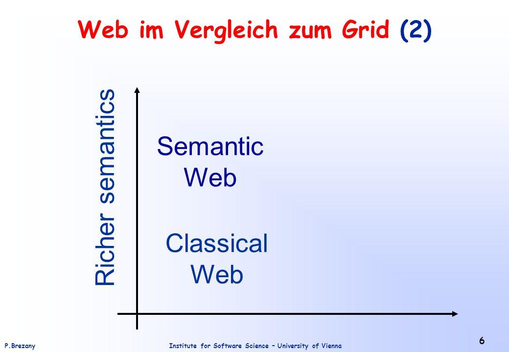 Web im Vergleich zum Grid (2)