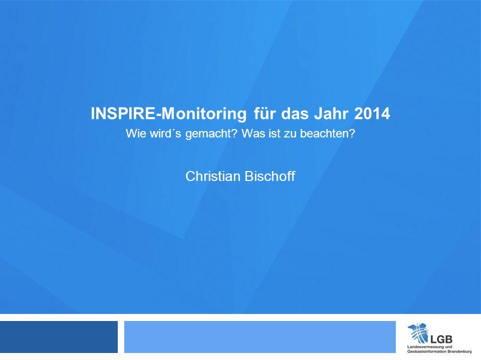 INSPIRE-Monitoring für das Jahr 2014