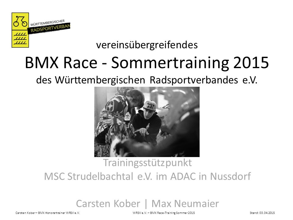 BMX Race - Sommertraining 2015