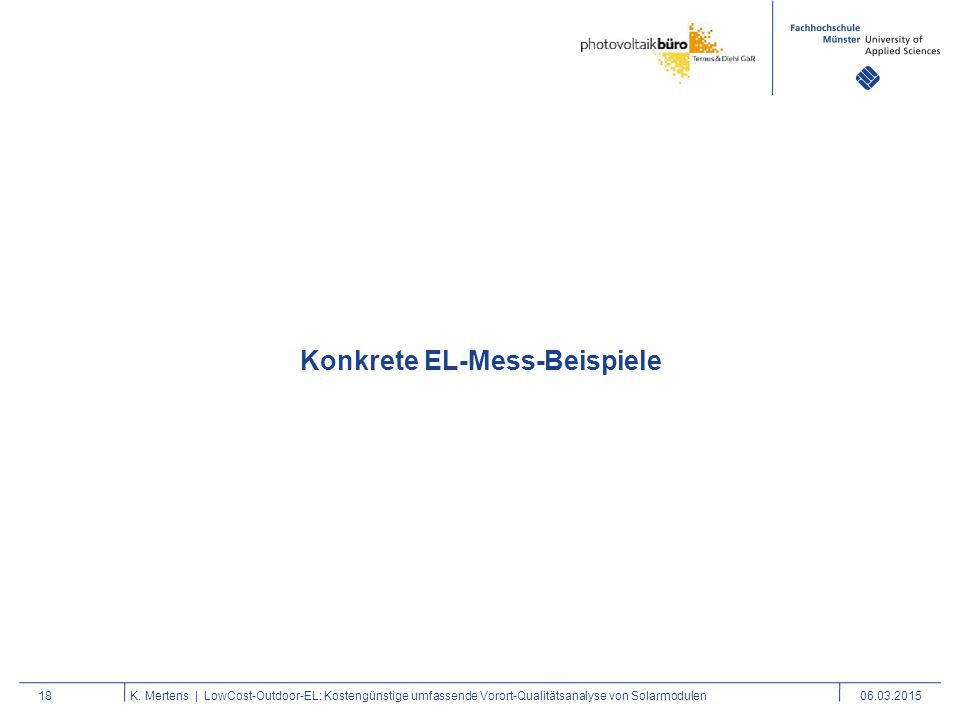 Konkrete EL-Mess-Beispiele