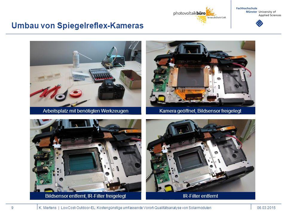 Umbau von Spiegelreflex-Kameras
