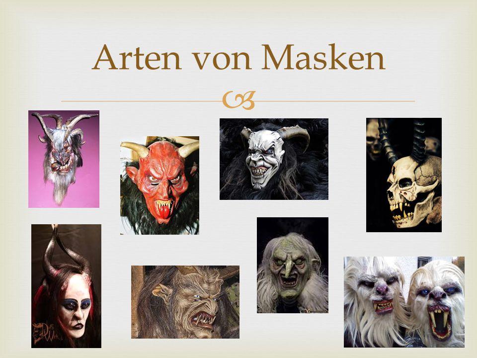 Arten von Masken