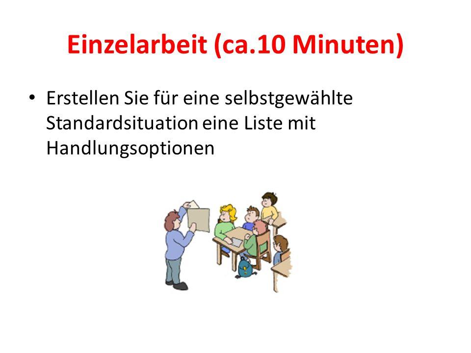 Einzelarbeit (ca.10 Minuten)