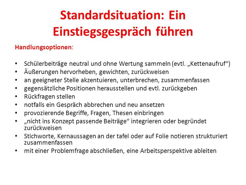 Standardsituation: Ein Einstiegsgespräch führen