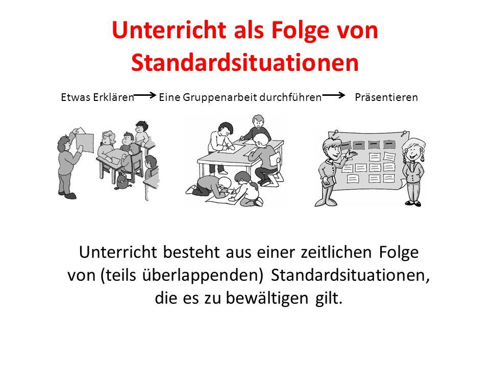Unterricht als Folge von Standardsituationen