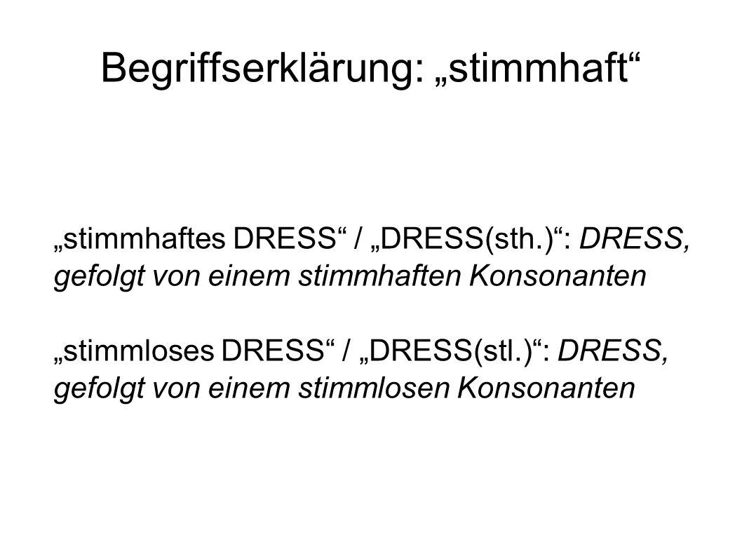 """Begriffserklärung: """"stimmhaft"""
