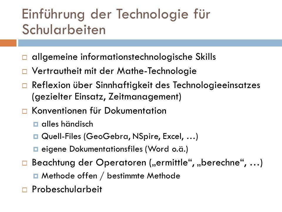 Einführung der Technologie für Schularbeiten