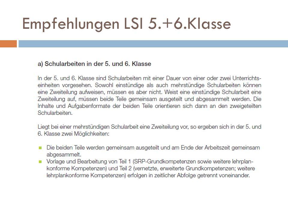Empfehlungen LSI 5.+6.Klasse