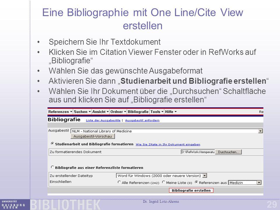 """Bibliographien mit eigenem """"Ausgabestil erstellen"""