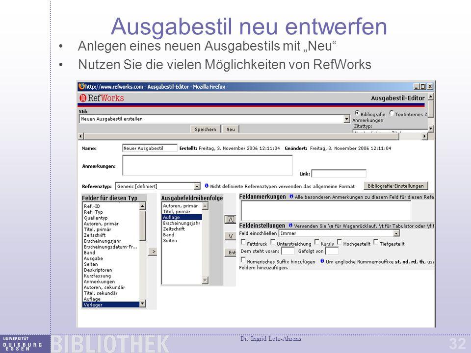 RefShare RefShare ist ein Zusatzmodul von RefWorks