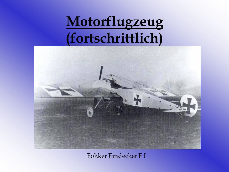 Motorflugzeug (fortschrittlich)