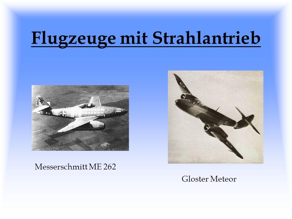 Flugzeuge mit Strahlantrieb