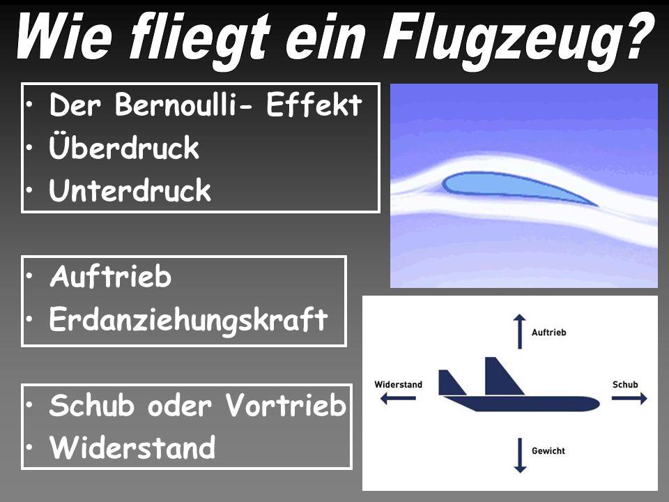 Wie fliegt ein Flugzeug